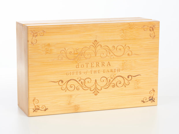 Engraved Bamboo Box - Holds 40 - Oil Life