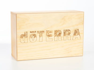 Engraved Pine Box - Holds 40 - Oil Life