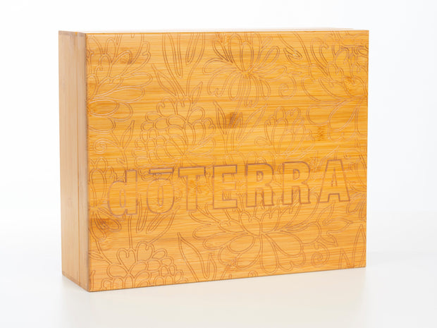 Engraved Bamboo Box - Holds 80 - Oil Life