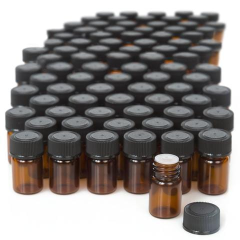 5/8 Dram Glass Sample Vials - Oil Life