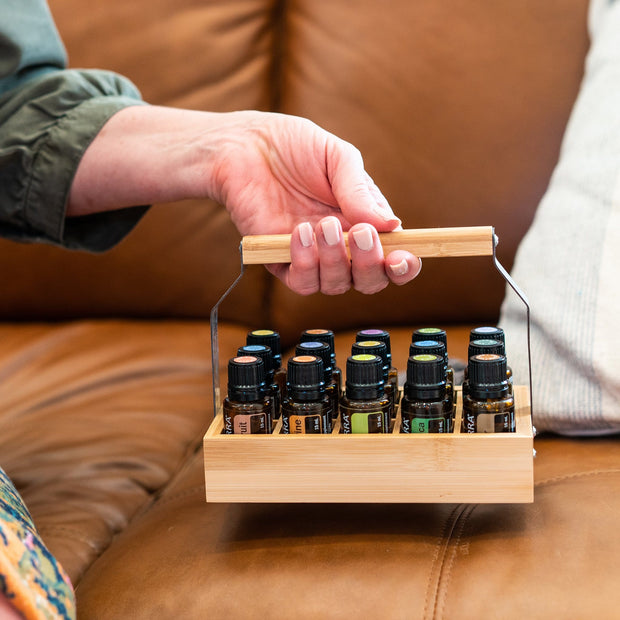 Bamboo Essential Oil Caddy