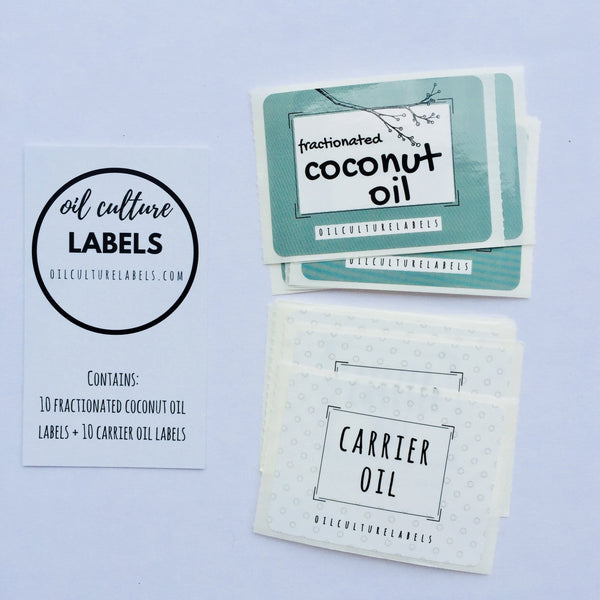 Carrier Oil - 20 pk Labels - Oil Life