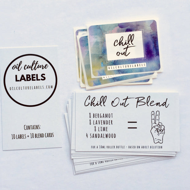 Chill Out - 10 pk Labels - Oil Life