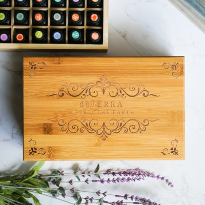 Engraved Bamboo Box - Holds 40