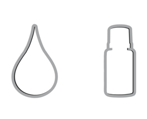 Gray Drop & Bottle Cookie Cutter Set
