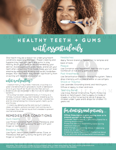 Healthy Teeth and Gums Tearpad - Oil Life