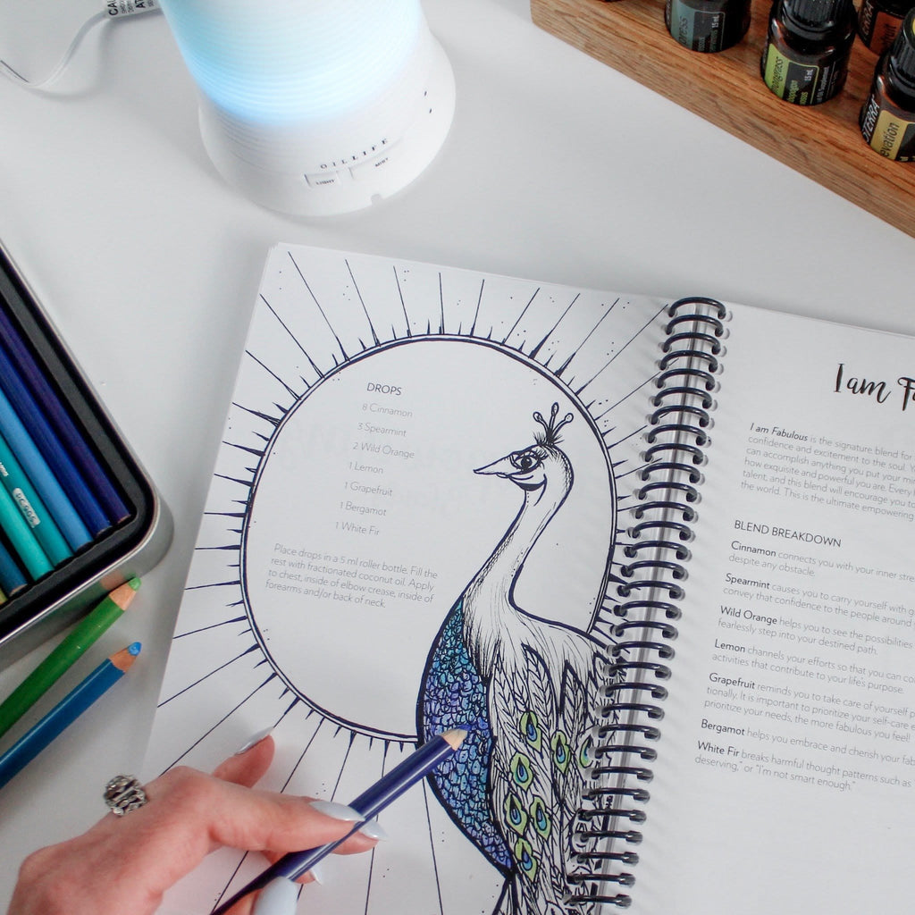 S blend coloring pages -  I Am Fabulous Emotional Healing Coloring Pages For Adults Personalize Your Essential Oil Usage With