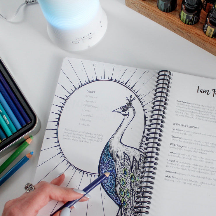 I Am Fabulous Emotional Healing Coloring pages for adults. Personalize your essential oil usage with these coloring pages.