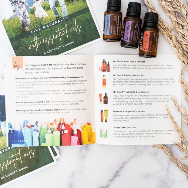 Live Naturally with Essential Oils: A Beginner's Guide 10pk