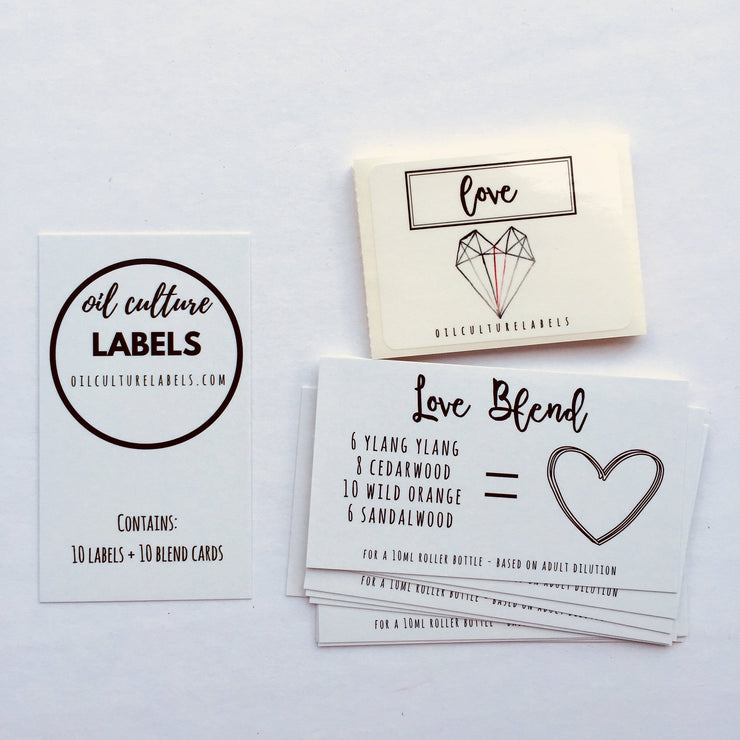 Love - 10 pk Labels - Oil Life