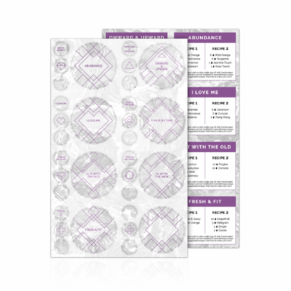 New You Label Sheet w/Recipes - Oil Life