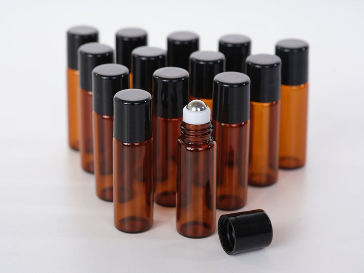 1 Dram Glass Roller for Essential Oils -15pk - Oil Life