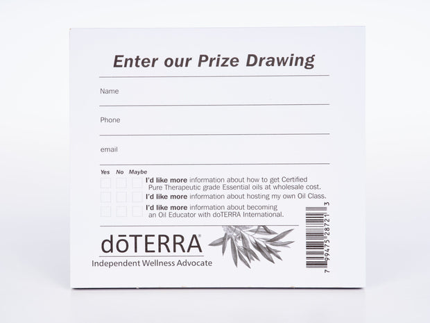 Oil Event Prize Drawing Slips pack of 50