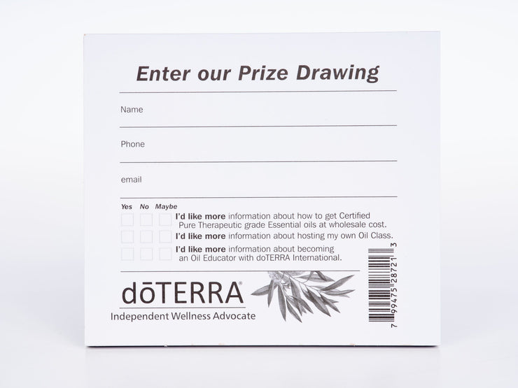 Oil Event Prize Drawing Slips