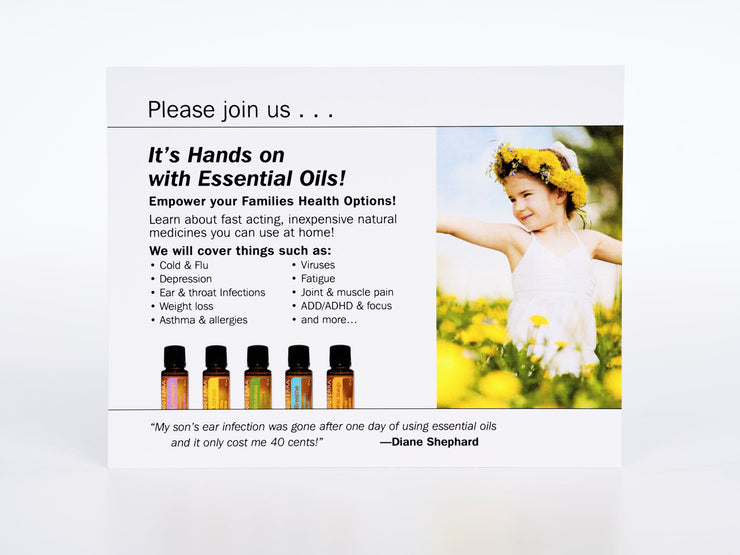 Oil Event Invitations pack of 40