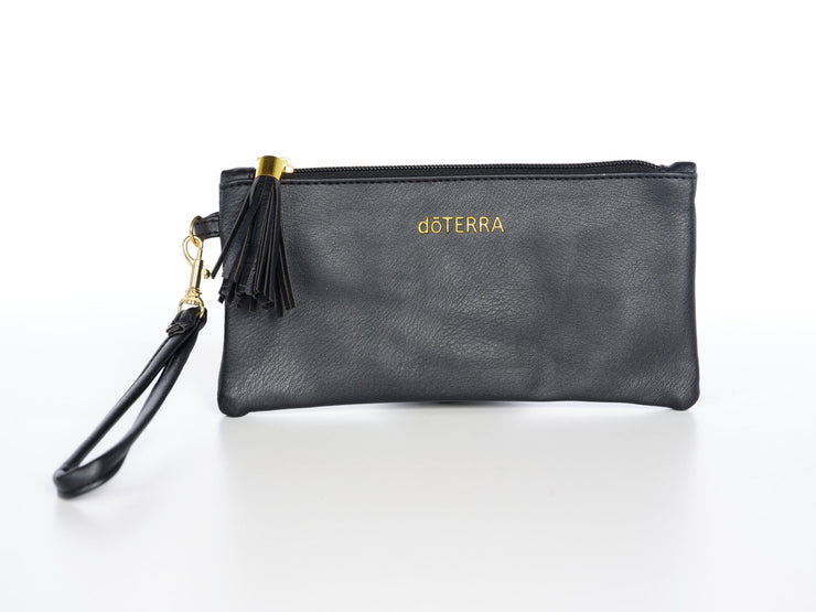 Chic Vegan Leather Essential Oil Wristlet Clutch - Oil Life