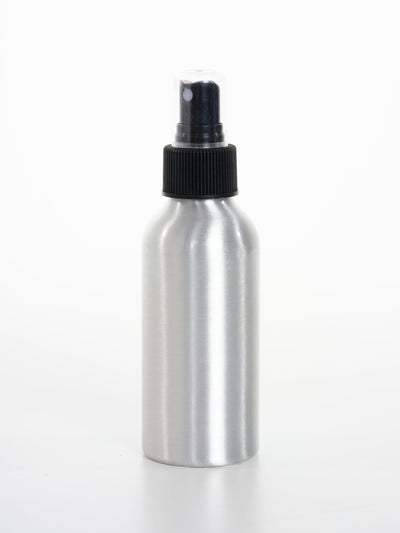 120 ml Aluminum Bottles W/ Black Fine Mist Sprayer - Oil Life
