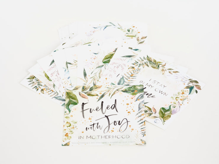 Fueled with Joy in Motherhood Affirmation Cards