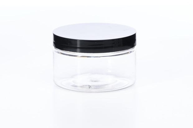 1/2 oz Clear Heavy Wall Jar w/Black Cap - 2pk - Oil Life