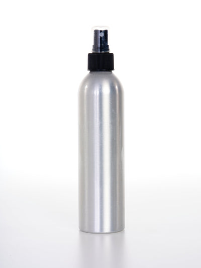250 ml Aluminum Bottles w/ Black Fine Mist Sprayer - Oil Life