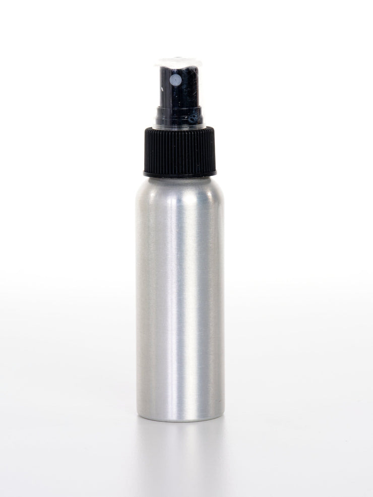 80 ml Aluminum Bottle w/ Black Fine Mister - Oil Life