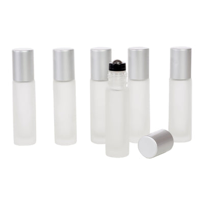 10 ml Rollers w/Silver Lids and SS roller - 6Pk - Oil Life