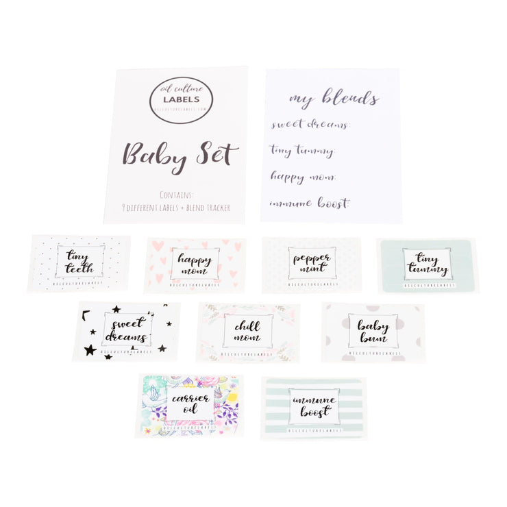 Baby Set Labels - Oil Life