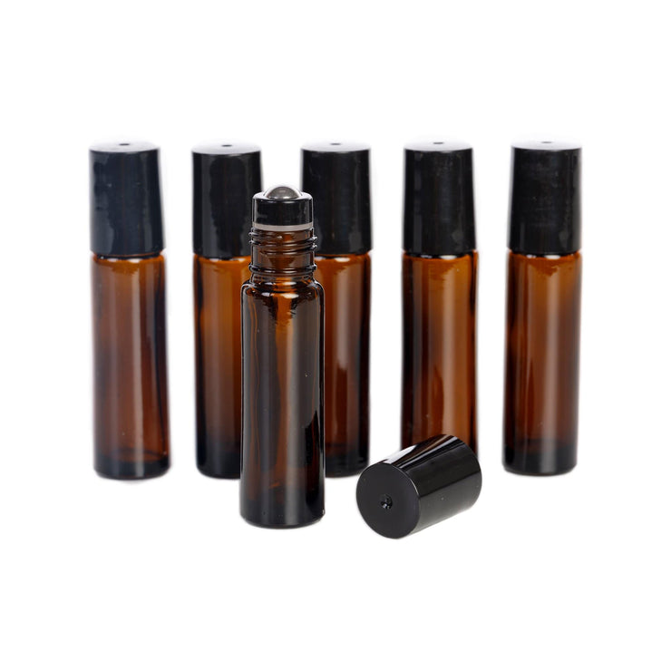 10 ml Glass Bottles with STEEL Roller Tops - Oil Life