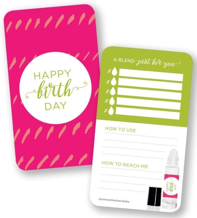 Happy Birthday Edition Blend Cards - Oil Life
