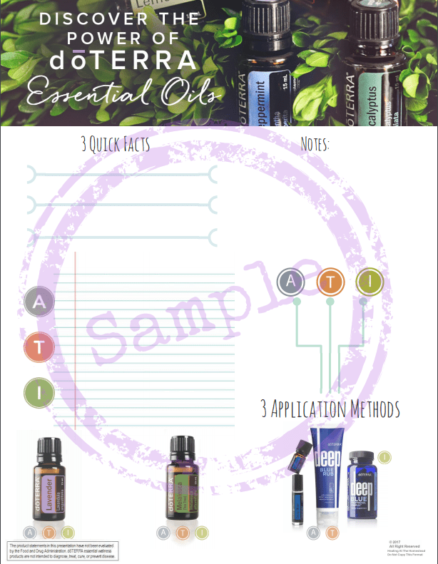 Introduction to Essential Oils Class Sheet Download - Oil Life