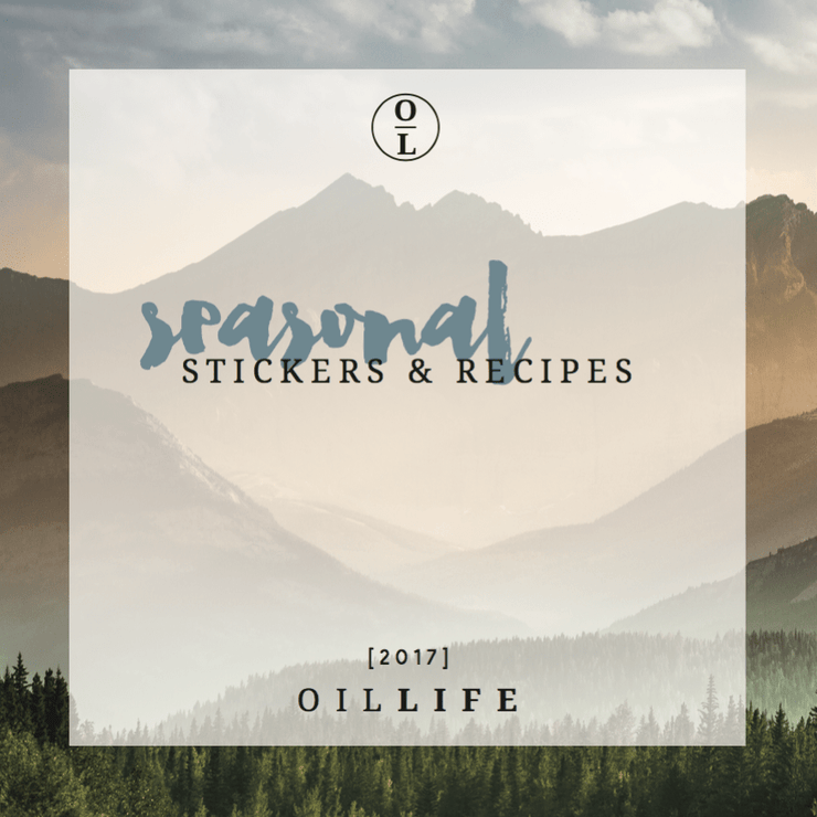 Seasonal Sticker & Recipe Book -Essential Oil DIYs & Bottle Labels - Oil Life
