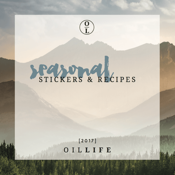 Seasonal Sticker & Recipe Book '17 -Essential Oil DIYs & Bottle Labels