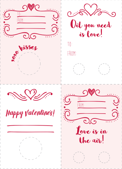 FREE Valentine's Gifting Set and Stickers - Oil Life