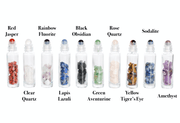 10 ml Gemstone Roller Bottles with Chip Stone - 10Pk - Oil Life