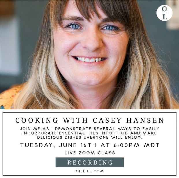 Cooking with Essential Oils Workshop - Recording