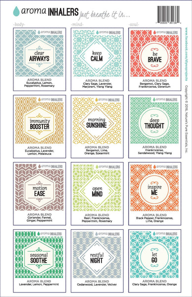 Aroma Inhaler FULL SET Labels
