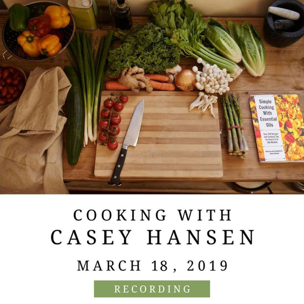 """Cooking with Casey Hansen"" Workshop - Recording"