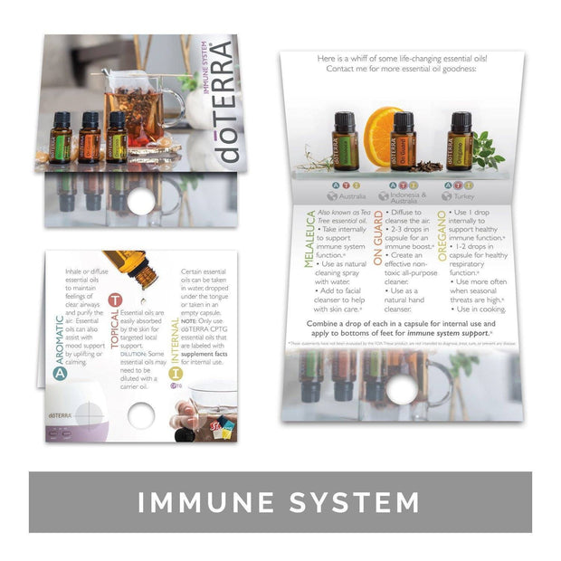 Single Theme Pack | Physical Support Sample Cards (Individual Packs of 10) Tools Sharing Made Simple Immune Support Sample Cards (10 Cards)