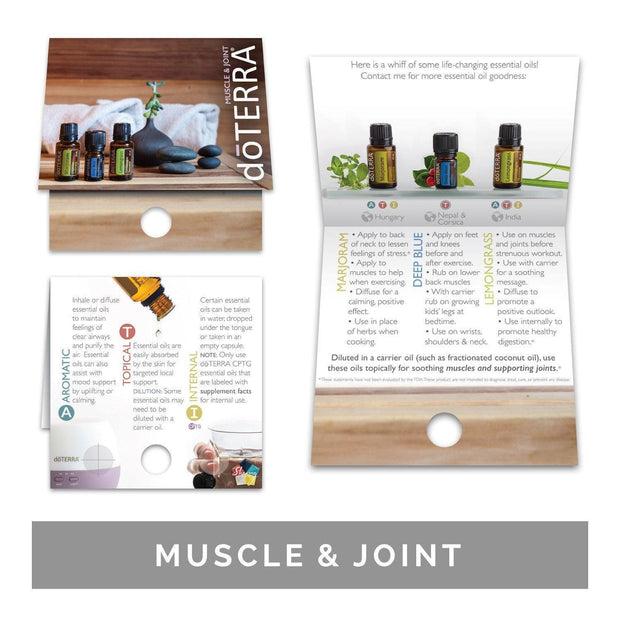 Single Theme Pack | Physical Support Sample Cards (Individual Packs of 10) Tools Sharing Made Simple Muscle & Joint Support Sample Cards (10 Cards)