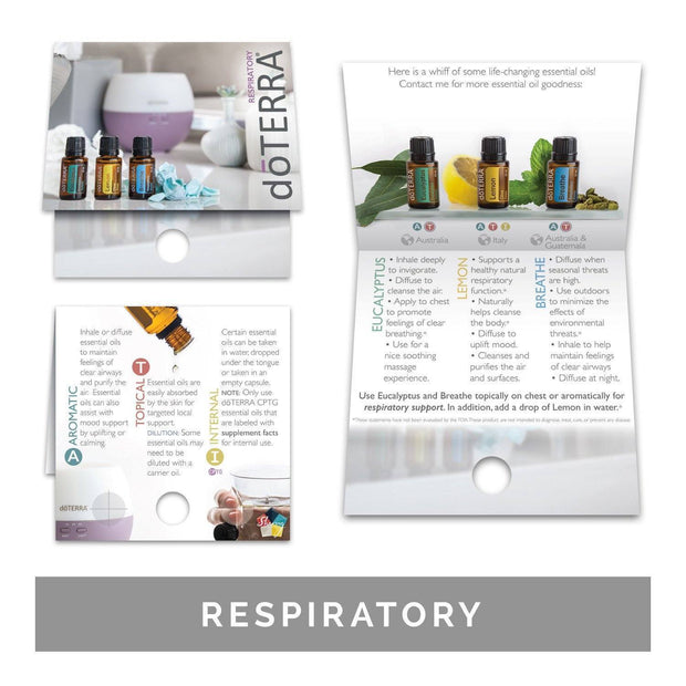 Single Theme Pack | Physical Support Sample Cards (Individual Packs of 10) Tools Sharing Made Simple Respiratory Support Sample Cards (10 Cards)