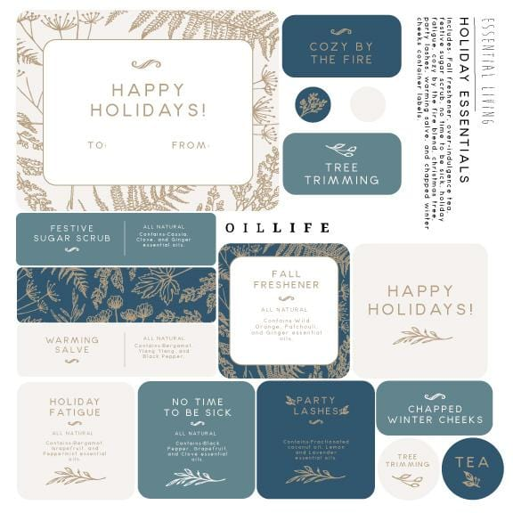 Holiday Stickers - Essential Living Kit