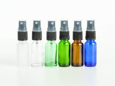 1/2 oz Glass Bottles with Pump Spray (4pk) - Oil Life