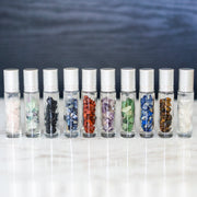 10 ml Gemstone Roller Bottles with Chip Stone - 10Pk