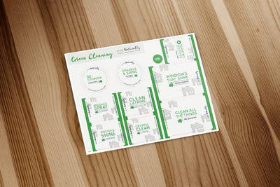 Green Cleaning Label Sheet