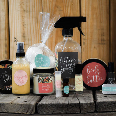 Holiday DIY Kit 2017 - Bottles Labels