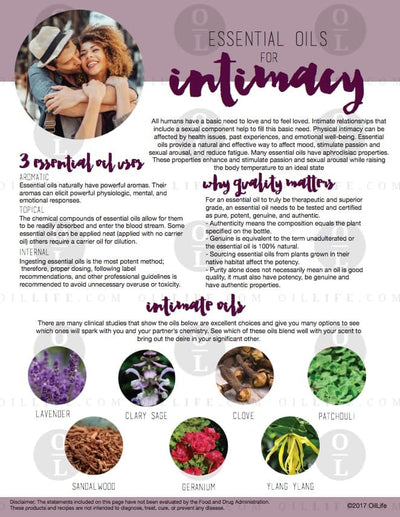 Essential Oils for Intimacy (Download)
