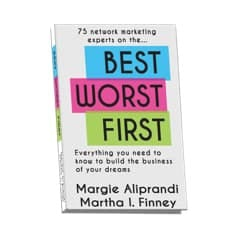 Best Worst First softbound book featuring Justin Harrison and Natalie Goddard