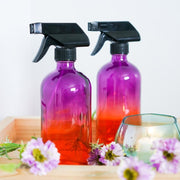Ombre Glass Trigger Sprayer Bottle - 8oz & 16oz - 2Pk - Oil Life