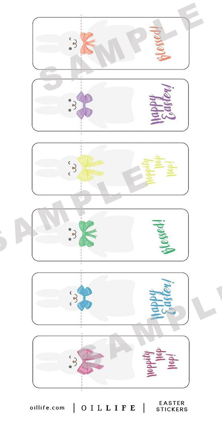 Roller Bottle Gift Seal Labels - Oil Life