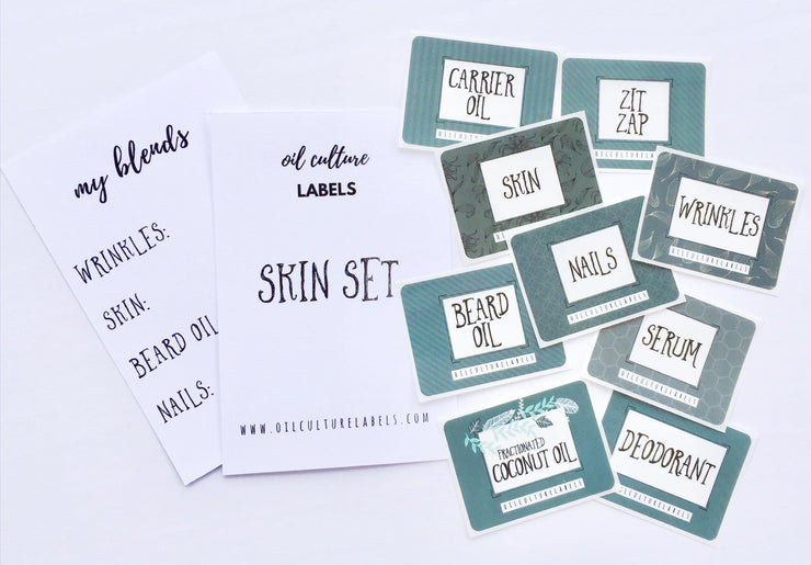 Skin Set Labels - Oil Life